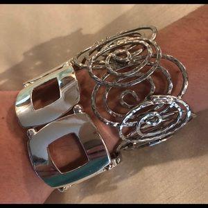 Two Silver Tone Bracelets